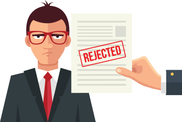 Bad credit rejected loan application